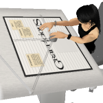 IMVU Project - Drafting Table and Outfit